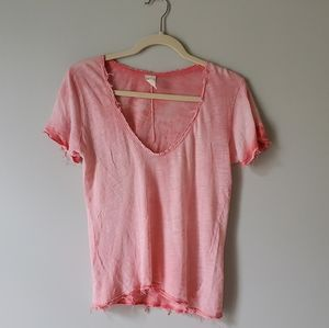 WE THE FREE | Pink Distressed Burnout Tee | XS